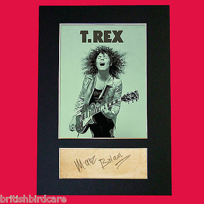 MARC BOLAN T-Rex Signed Autograph Mounted Photo Repro A4 Print 485