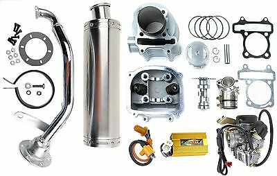 150 to 170cc Scooter big bore Kit Head Cam GY6 Coil DC CDI and 30mm Carburetor