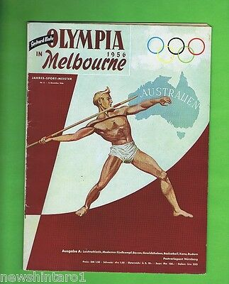 #t16.  Rare German 1956 Melbourne Olympic Magazine