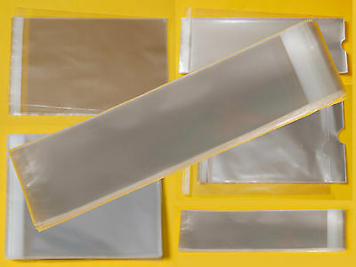 Clear Tall/Slim Cello Display Bags - Cellophane Display Bag for Bookmarks/ Gifts