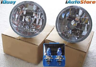 "7"" Inch Xenon Headlights Crystal Semi-Sealed Universal Clear Round H4 12V 55/60W"