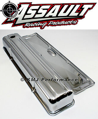 Chevy 235 Inline Straight 6 Cylinder Chrome Valve Cover w/ Side Plate
