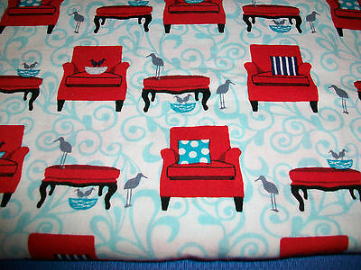 """PERFECTLY PERCHED BIRDS COTTON QUILT FABRIC - 2 YARDS x 44"""""""
