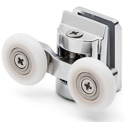 2 x Twin Top Zinc Alloy Shower Door Rollers/Runners 25mm wheel DIA L067 8mm