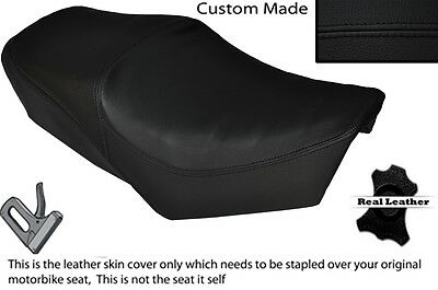 BLACK AND RED VINYL CUSTOM FITS DAELIM S5 S FIVE 50 DUAL SEAT COVER ONLY
