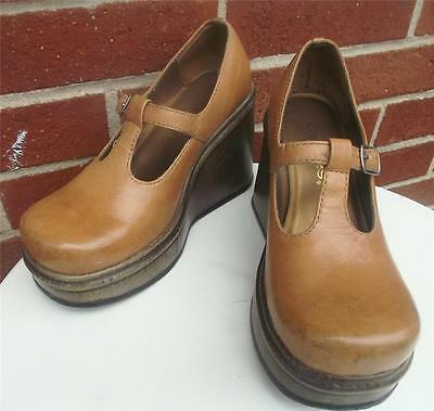 Brown Wedge Spectator Shoes For Women