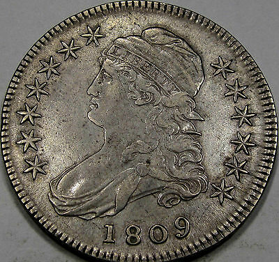1809 O-105 Capped Bust Half Dollar Choice Abt. AU... So Nice and Original, NEAT!