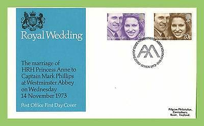 G.B. 1973 Royal Wedding set Post Office  First Day Cover Westminister Abbey