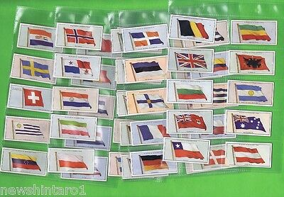 #d126. Original Set 1928  Flags Of The League Of Nations  Cigarette Cards