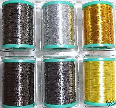 Fishing rod wrapping thread metallic 6 packs by Dblue