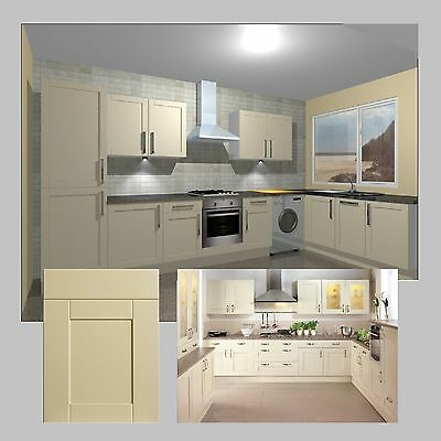 Fitted Kitchen Units Complete with Shaker Cream Doors