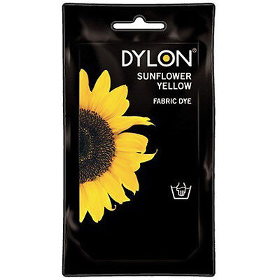 SUNFLOWER YELLOW DYLON HAND WASH FABRIC CLOTHES DYE 50g TEXTILE PERMANENT COLOUR