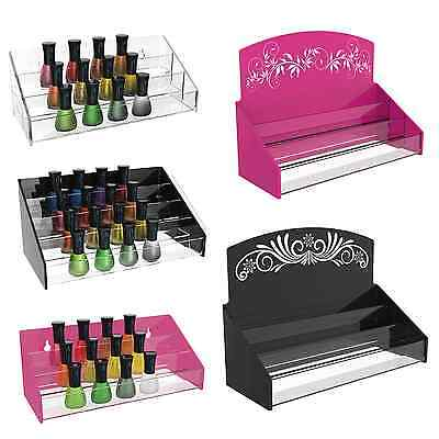 Nail Polish Varnish Acrylic Perspex Retail Display Stand 30 - 70 Bottles