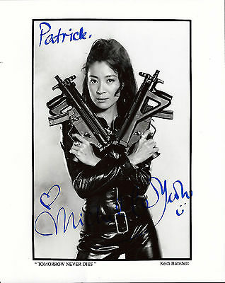 Michelle Yeoh signed 8x10 Tomorrow Never Dies promo photo / autograph James Bond