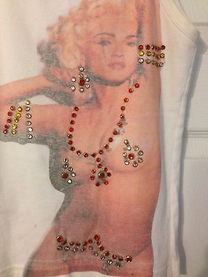 Very Rare Amazing Nude Madonna Jeweled Vintage Top T-Shirt - L