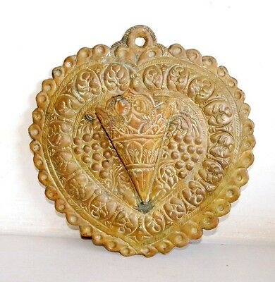 Antique Islamic Hand Floral Carving Copper  Wall Hanging Flower Holder Plaque