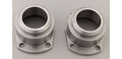 "Moser Eng Axle Housing Ends Forged Steel Zinc Plated Big Ford W/ 1/2"" Holes Pair"
