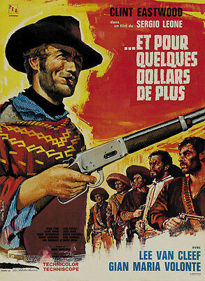 A fistfull of dollars 1964 Clint Eastwood cult western Movie poster print 6