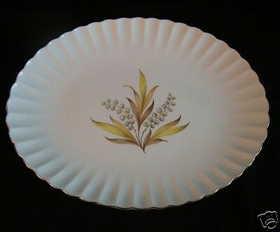 "SPODE ANDROMEDA  China England  Meat Serving Platter 12 3/4"" lily of the valley"