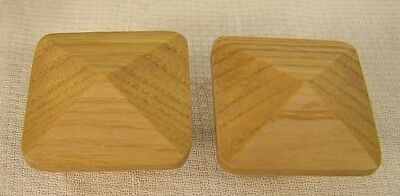 10 Natural Oak Wood Arts & Crafts Wood Knobs Cabinet Furniture Hardware • CAD $25.51
