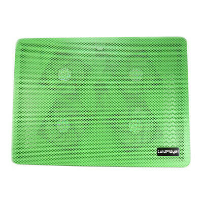 Green USB 4 Fan Cooler Notebook Cooling Pad Laptop Mute with Blue Light LED