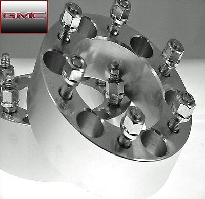 Pc 03-13 GMC CANYON BILLET WHEEL SPACER ADAPTERS 2.00 Inch # 6550E1215 2