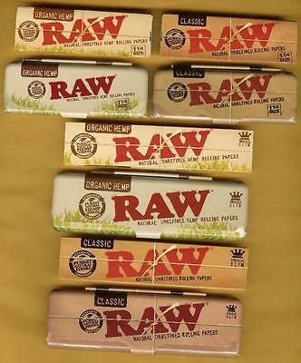 RAW Rolling Papers plus Storage Case Tins 1 1/4, King Size, Classic, Organic