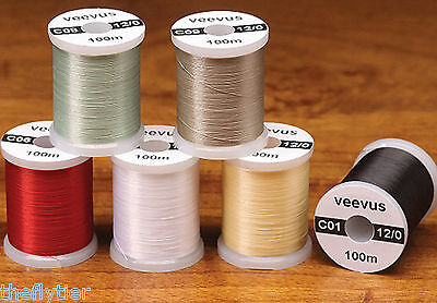 VEEVUS 12/0 THREAD --  Fly Tying by spool or set