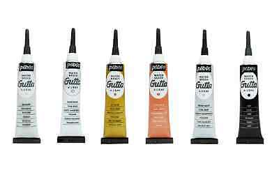 Pebeo Gutta Silk Outliner Water Based Paint Setasilk Fabric Painting 20Ml Tube