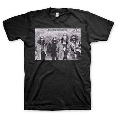 Black Sabbath / Ozzy - Greyscale Group Mens T-Shirt - New & Official In Bag