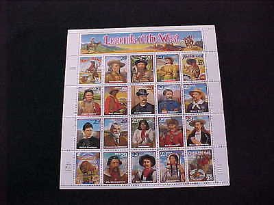 U.s: #2869 29¢ Legends Of The West Mint Sheet/20 Nh Og