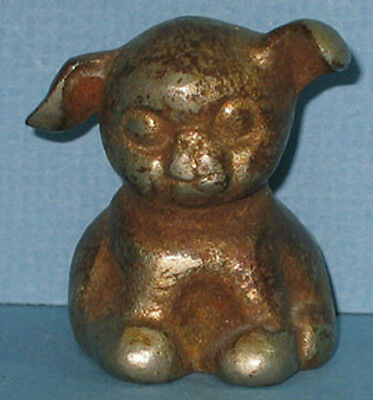 1930's OLD SITTING DOG CAST IRON PAPERWEIGHT * LIKE THE BANK & ALL ORIGINAL PW47