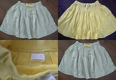 New Girls ex Mini Boden Jersey Skirt Yellow, Grey Age 4-5, 5-6, 7-8 Years
