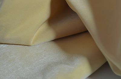 LUXURIOUS SOFT HIGH END DECORATOR VELVETY UPHOLSTERY FABRIC IN MUTED GOLD W21