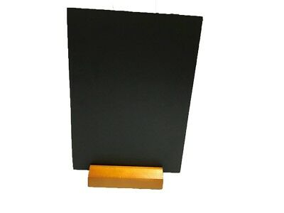 A4 Table Top Blackboard & Stand Menu Notice Display Chalk Board Portrait Zhja4