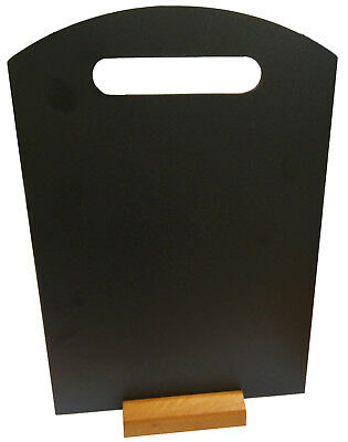 Portrait Shape A3 Table Top Blackboard & Handle Menu Stand Display Chalk Board