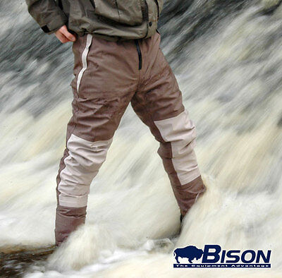 Bison Breathable Waist Waders Complete With Rubber Or Felt Sole Wading Boots