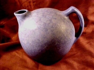 Niloak Hywood Ball Pitcher In Mottled Blue,'30's Production, Mint But No Stopper