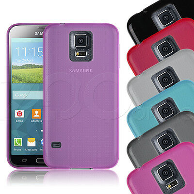 Hydro Gel Plain Slim Case Cover For Samsung Galaxy S5 Mini + Screen Protector