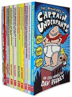 Captain Underpants Collection 10 Books Set. By Dav Pilkey, The Adventures of Cap