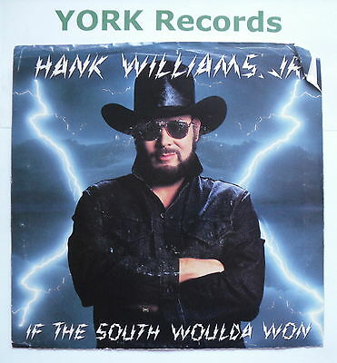 """HANK WILLIAMS JR - If The South Woulda Won - Ex Con 7"""" Single Warner Brothers"""