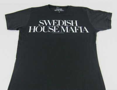 New Womens Mens Black Swedish House Mafia SHM One Last Tour T-Shirt Size M