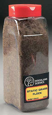 NEW Woodland Scenics Static Grass Flock Burnt Grass 32 oz FL633