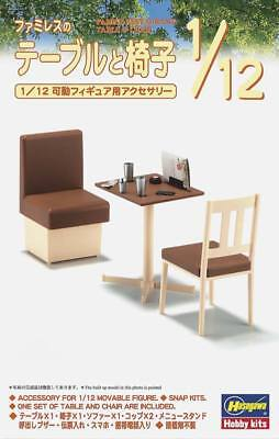 NEW Hasegawa 1/12 Family Restaurant Table/Chair 62007