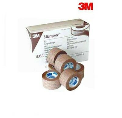 Genuine 3M Micropore TAN Surgical Tape 2.5cm x 9.1m *1 ROLL*