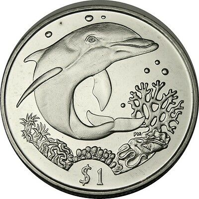 elf Br Virgin Isl 1 Dollar 2004 Dolphin