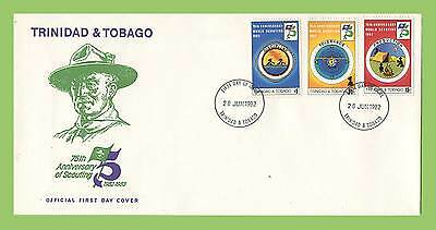 Trinidad & Tobago 1982 75th Anniversary of Scouts set First Day Cover