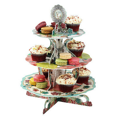 3 Tier Reversible Cake Stand Girls Wedding Party Cup Cake Decoration Display