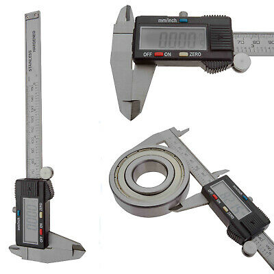 "Durable 6"" Digital LCD Vernier Caliper Stainless Electronic Measurement Tools"