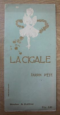 Programme music-hall La Cigale 1907